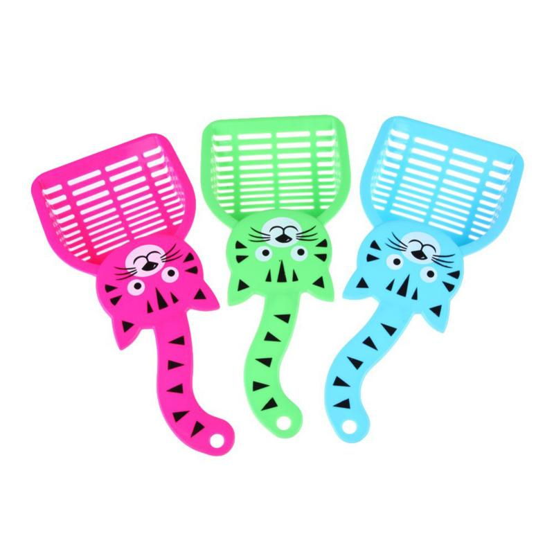 Wholesale Products For Cats Cute Plastic Cat Dog Pet Poop Scoop Sieve Litter Animals Wastes Cleaning Mascotas
