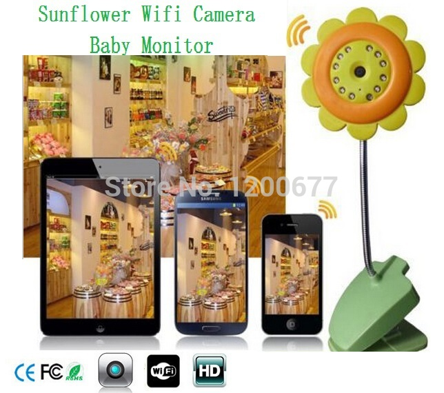 Flower ip camera wifi baby monitors radio babysitter IR Night vision baba eletronia nany monitor support IOS Android smartphone ipad