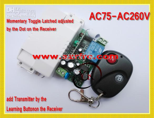 add a switch - AC110V Remote Control Switch LED Light Lamp RKE Remote Controller MHZ A ON B OFF Learning to add Transmitter