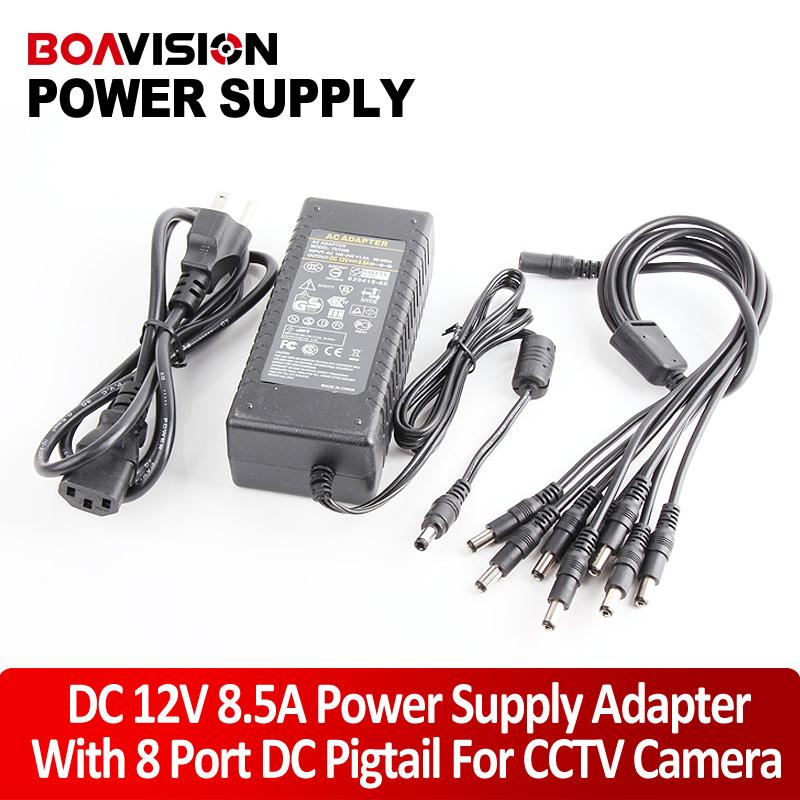 Wholesale 100V V V A Port CCTV Camera AC Adapter Power Supply Box for CCTV Security Camera DVR Kit