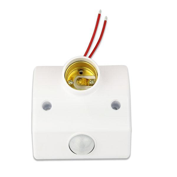 Wholesale 100pcs Infrared Motion Sensor Automatic Light Lamp Bulb Holder Stand Switch V V White Y4265B