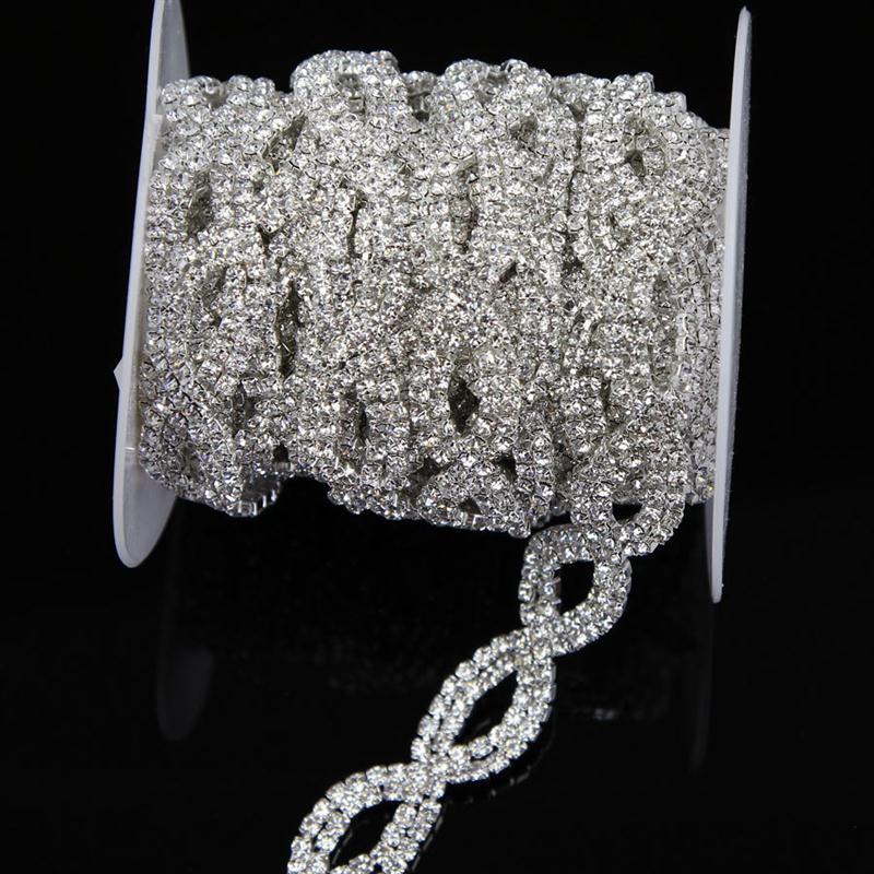 Wholesale Yard mm Cross Clear Crystal Rhinestone Chain Trim Bridal Costume Waist Decor M0030F00
