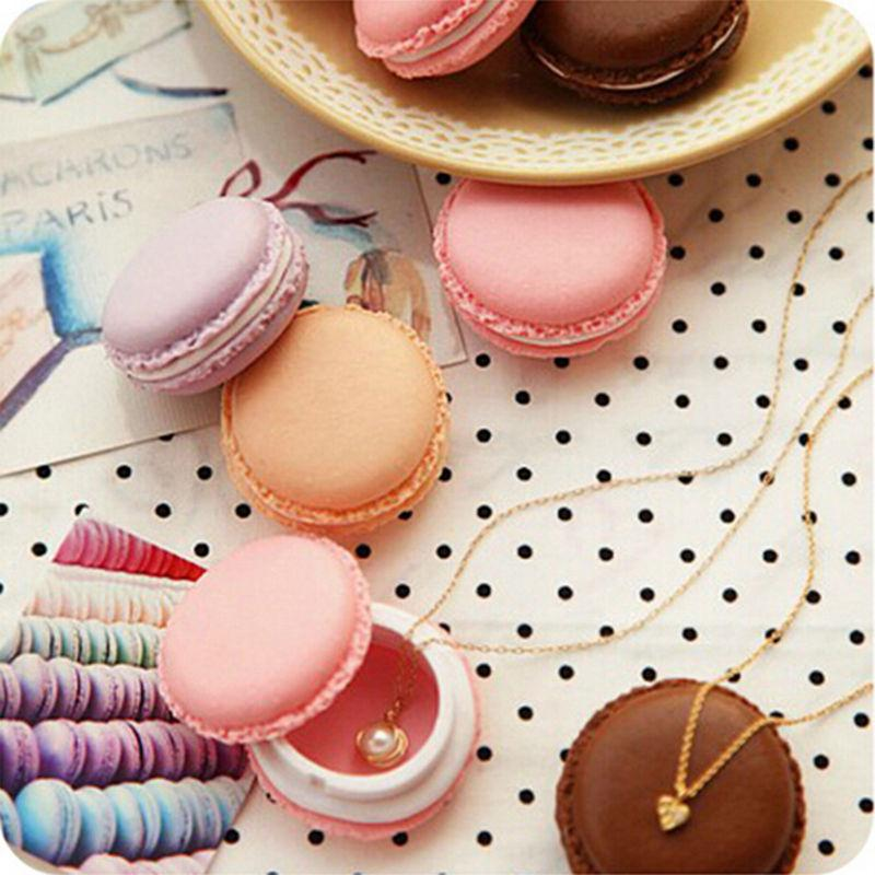 Wholesale High Quality Cute candy Jewelry storage box Mini macaron case for Necklace Earring jewelry organizer Gifts