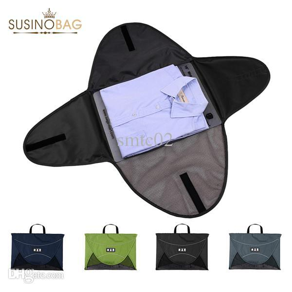 Wholesale 42 Large Size Shirt packing folder tote Travel Bags Practical Folding Bags business trip useful Storage clothes organizer