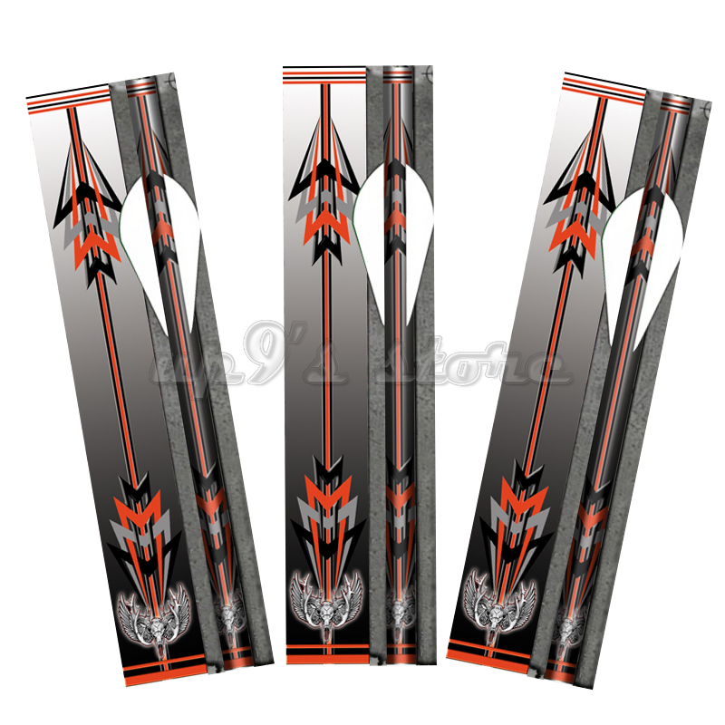 as the picture show arrow eagle - 14 Eagle Red Black Arrow Wraps for Archery Shafts Fletches Archery Bow Hunting