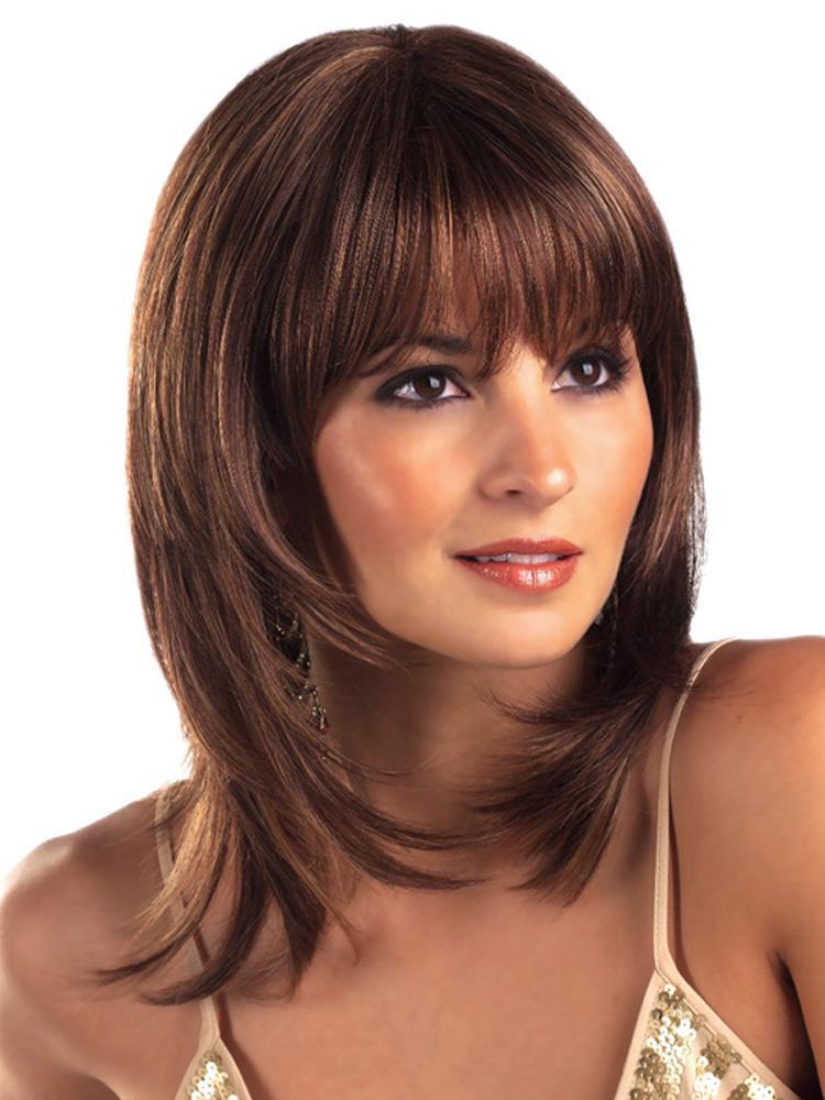 Женские прически для средней длины волос