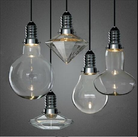 LED 3W Modern luzes pingente de vidro criativo de cristal lâmpada ...