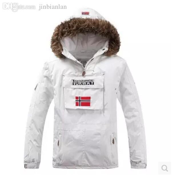 Fall-New 2015 Winter Jacket Men Sports Face Down Jackets 90% White Duck Hooded Waterproof Parka Outdoors Brand Ski Down Jacket