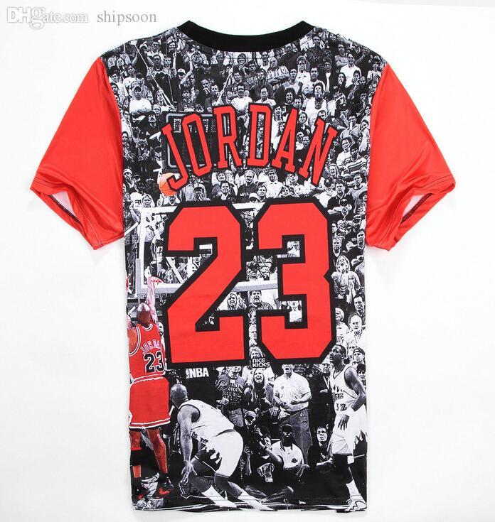 Wholesale-2016 sport t-shirt men/Women Jordan Lore NO.23 3d Print Tops hip hop tshirt Unique Fashion clothes plus size M-XXL Free shipping