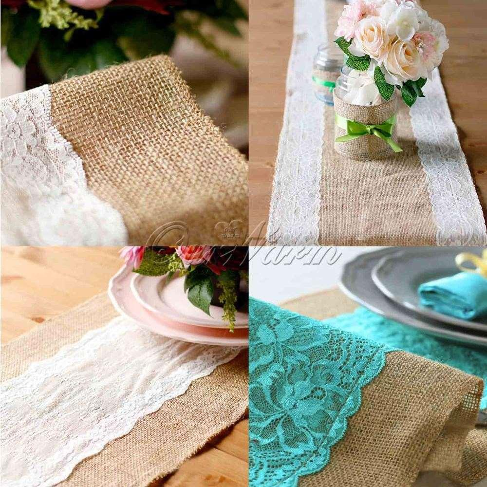Hessian lace wedding