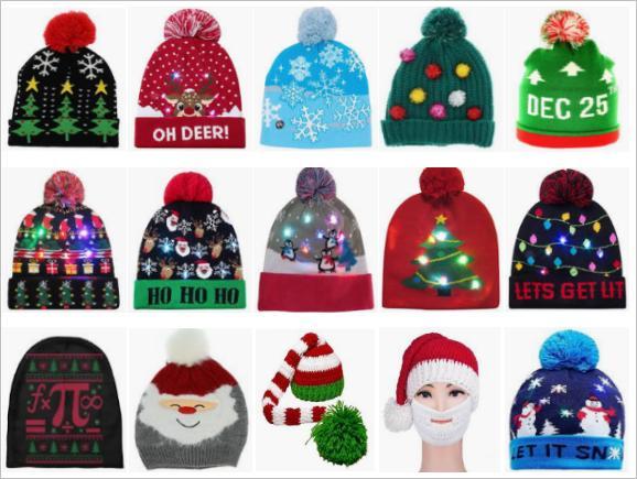 圣诞节帽子围巾选品