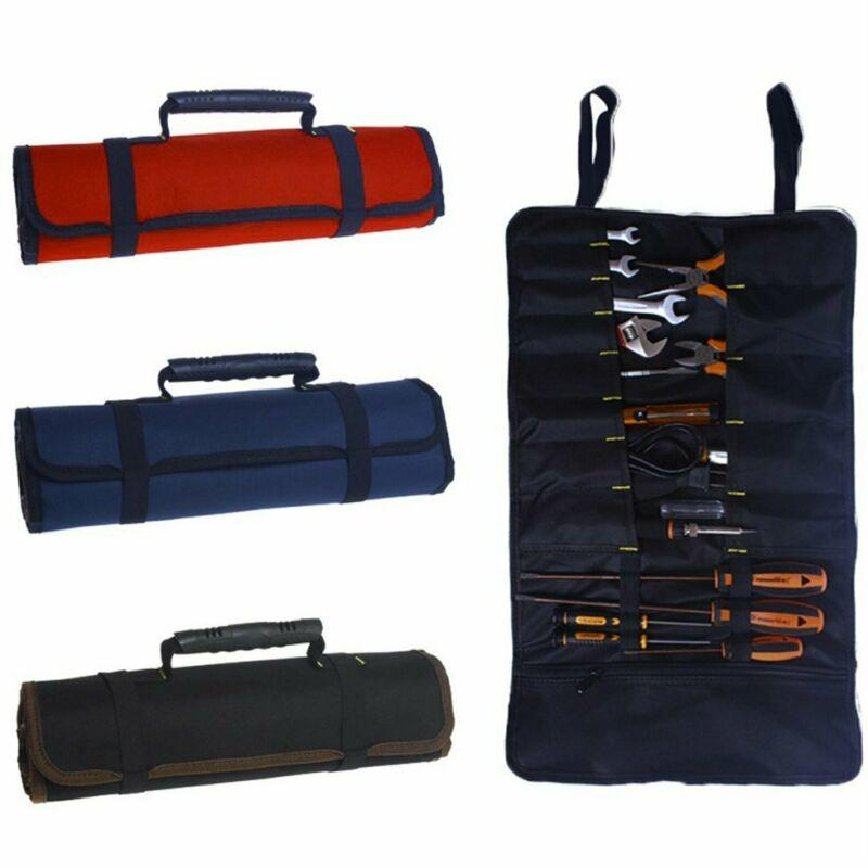 Hardware Tools Roll Plier Screwdriver Spanner Carry Case Pouch Bag 22 Pockets KW