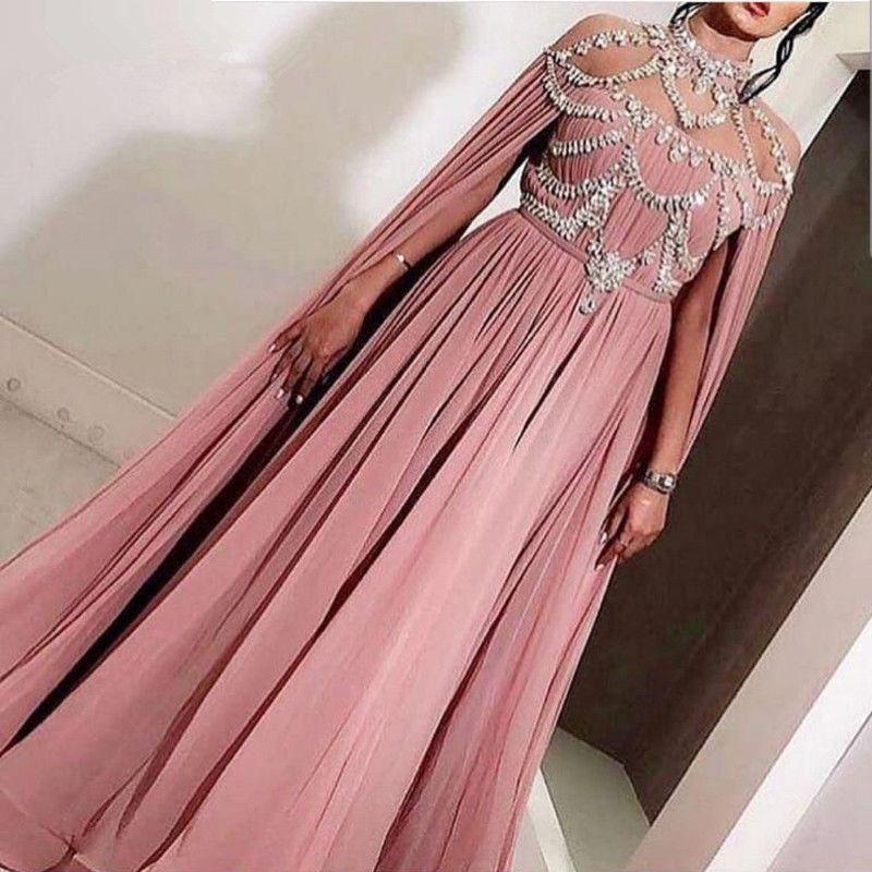 Pink Muslim Evening Dresseses