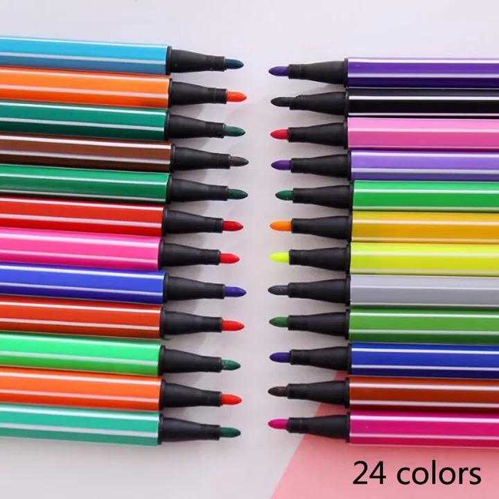 Watercolor Pencils Children Painting 36/24/12 Color Non-Toxic Washable Watercolor Pen Sign Painting Children Art Markers School