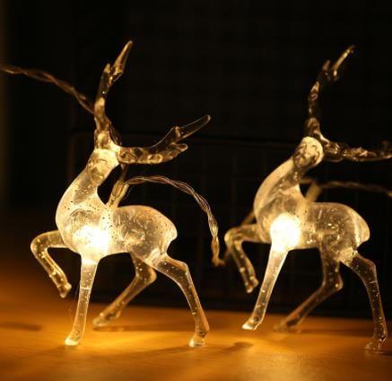10 Led Transparent Sika Deer Battery USB String Lights