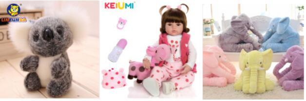 毛绒大抱枕,女童喜欢的毛绒玩具娃娃等