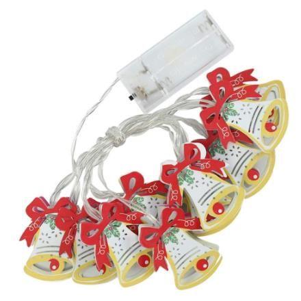 Christmas Tree Lights Bell 5.9ft 10 LED Christmas Fairy String Light