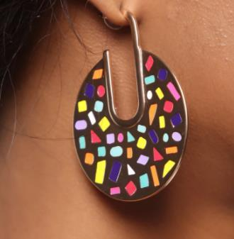Hoop Earrings Multi Color