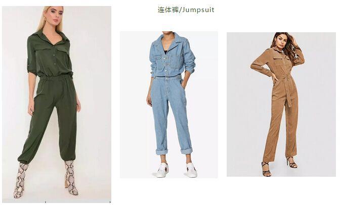 2019年春夏流行服装时尚工装风连体裤