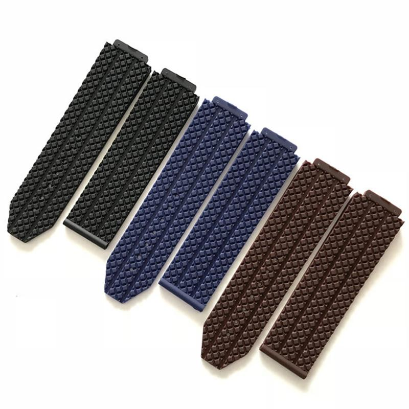 Rubber Strap For 18mmx24mm Men and Women Watch Band