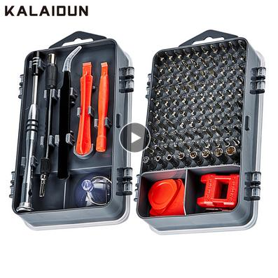 KALAIDUN 112 in 1 Screwdriver Set Magnetic Screwdriver Bit Torx Multi Mobile Phone Repair Tools Kit Electronic Device Hand Tool