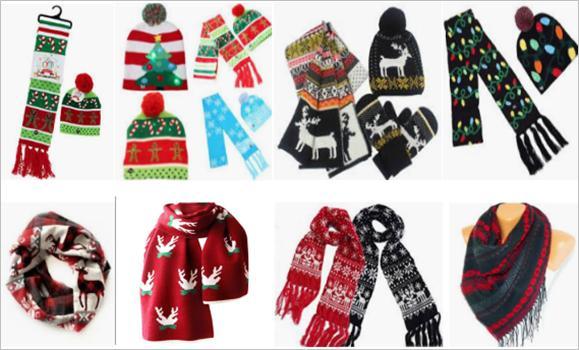 圣诞节围巾选品