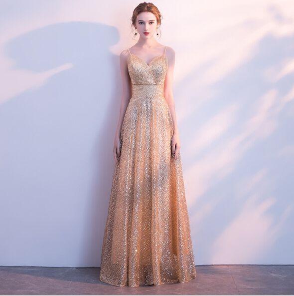 Spaghetti Belt Prom Dresses