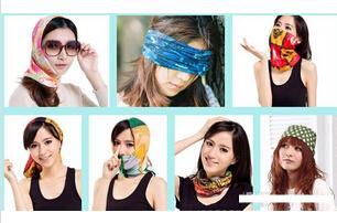 新款时尚多功能头巾可户外运动使用的头巾