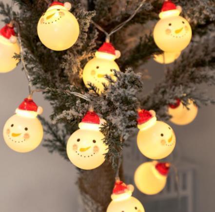 LED Charming Christmas Snowman Shape String Light
