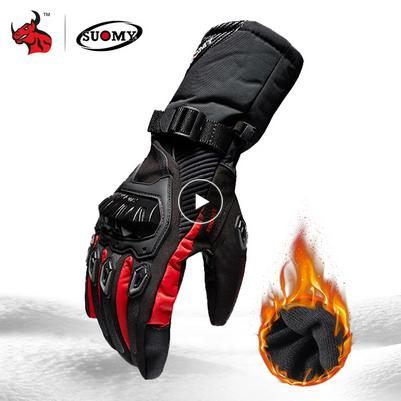 SUOMY Motorcycle Gloves Men 100% Waterproof Windproof Winter Moto Gloves