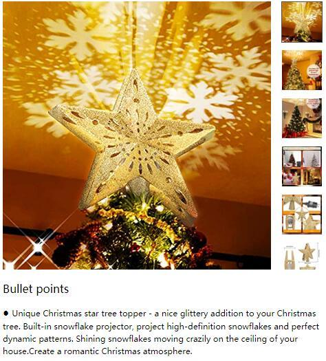 圣诞树顶装饰星星