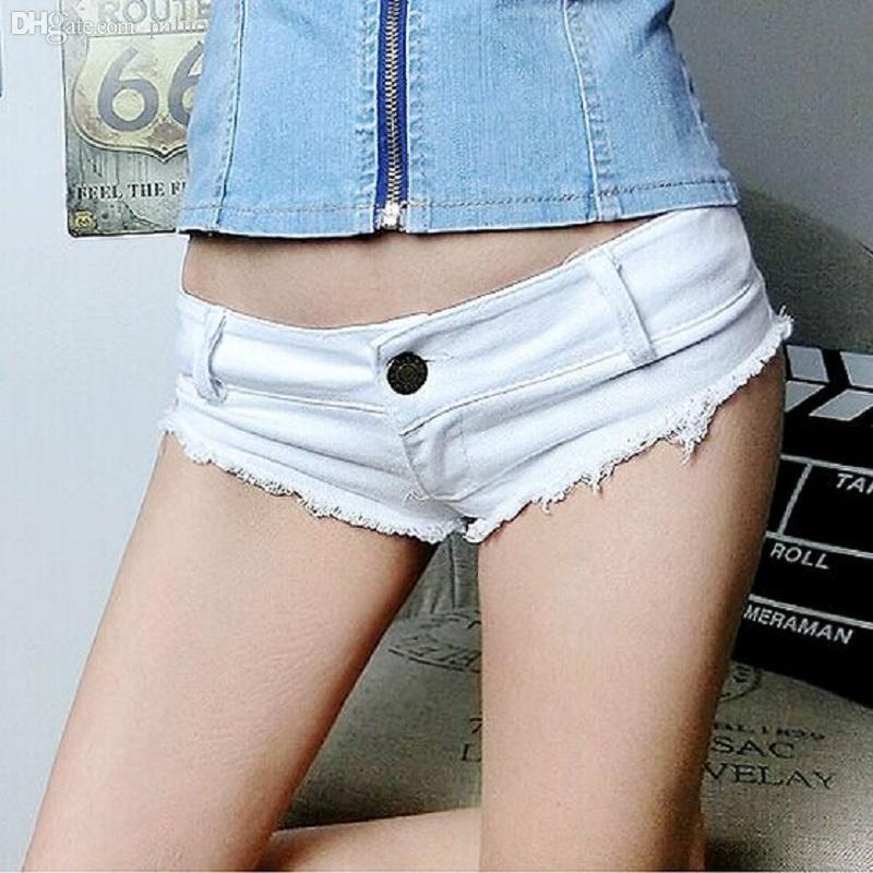 Wholesale-New Summer Style Sexy Low Waist Shorts Women Denim Super Short Shorts Mini Jeans Shorts Free Shipping D505