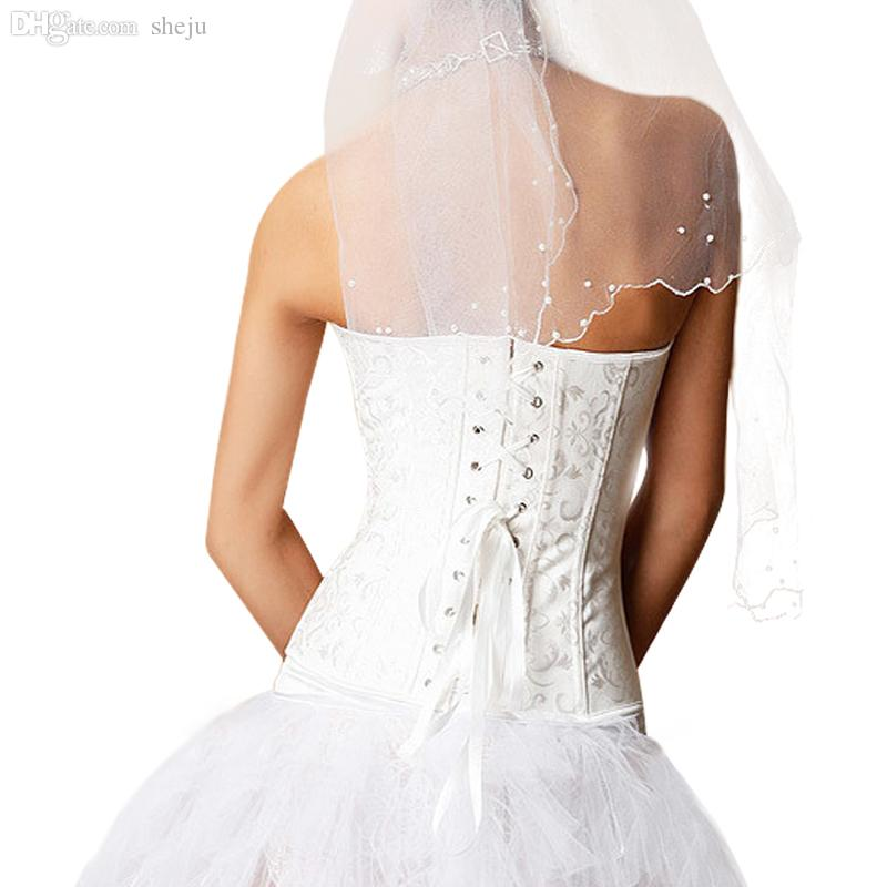 Wholesale-fajas fajas reductoras Sexy Women Bustiers And Corsets Push Up Waist Training Corsets For Wedding Dress Plus Size 5XL,6XL F0110