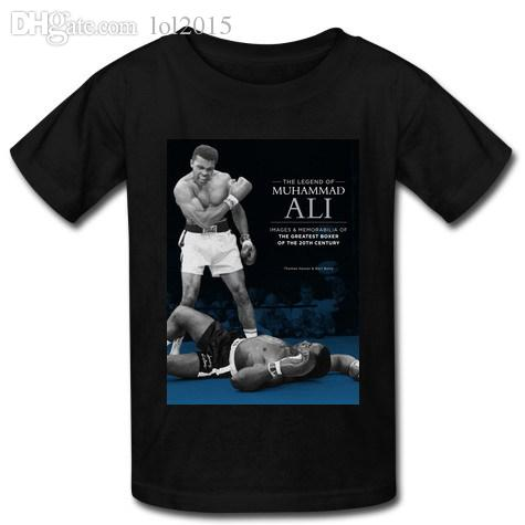 Wholesale-New Arrival Mens Fashion MUHAMMAD ALI T-shirt 100% Cotton Short Sleeve Custom T shirt for free shipping
