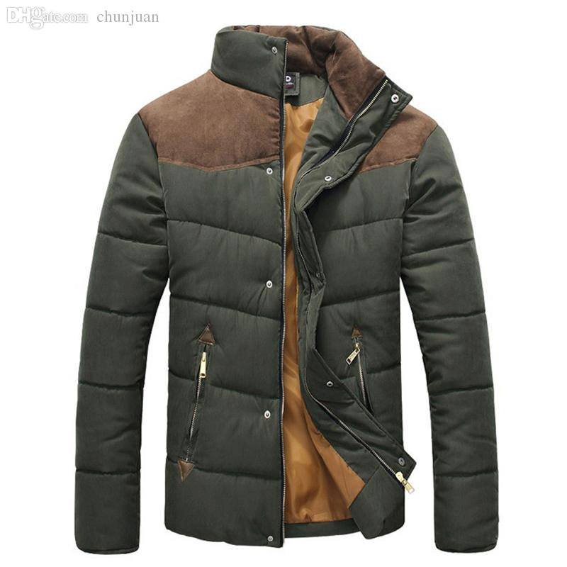 Fall-2015 winter jacket men padding cotton casual down jacket parkas warm outdoors thick outwear coats jackets for men MY100