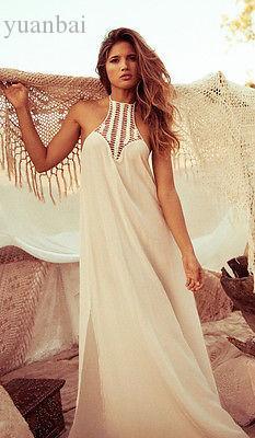Wholesale-Vintage Hippie Boho People Long Maxi Evening Party Chiffon Dress Beach Dresses
