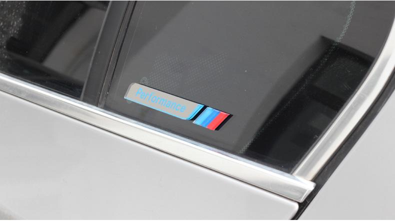 2017 styling m performance car window decal stickers m power c pillow emblem badge for bmw 1