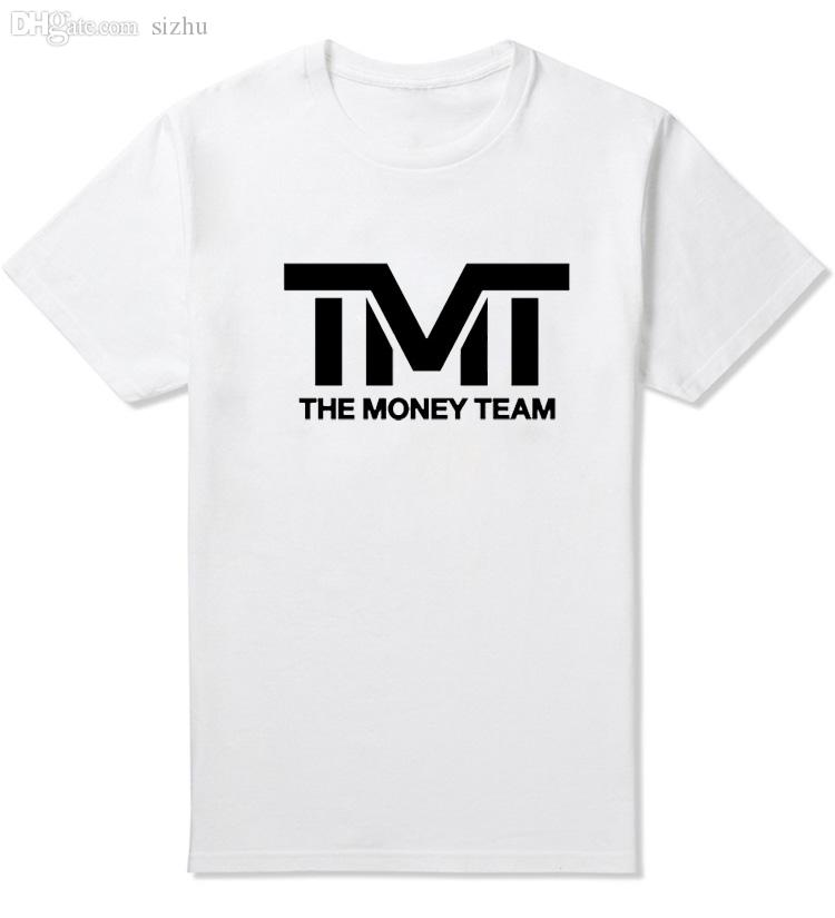 Wholesale-Floyd Mayweather Cotton male t shirt TMT homme the money team male T-shirt short sleeve Tops Tee Shirt Print MCT024
