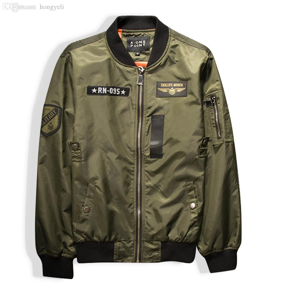 Wholesale-2016 Fashion Women's O-Neck Jacket Short Thin Bomber Jacket Coat Pilots Outerwear Tops Air Force Jackets 2 Color QY026