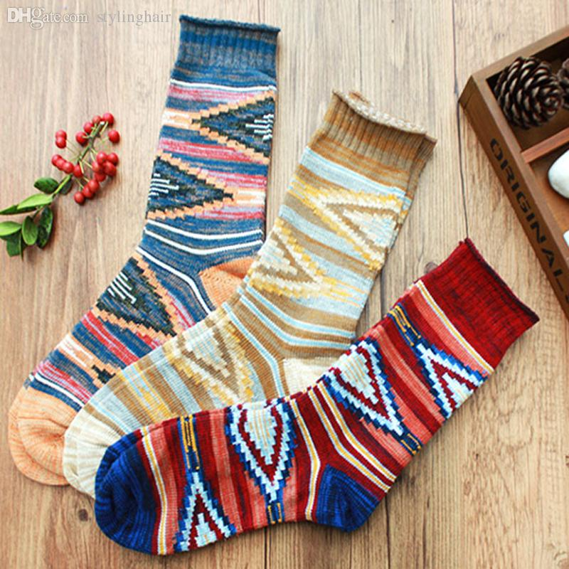 Wholesale-hot sale casual new style men's combed cotton colorful socks brand man dress knit socks size(6.5-11)