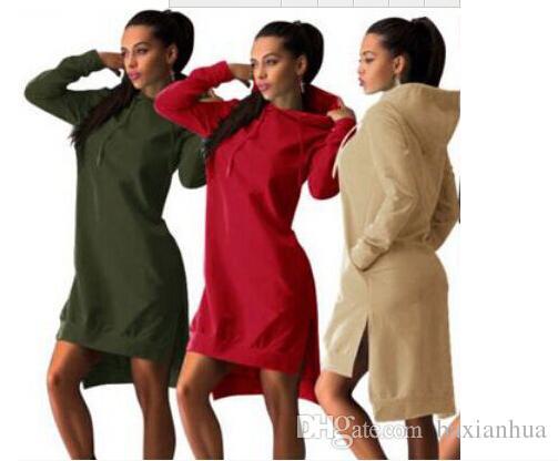 Wholesale Women Clothes Dresses Winter Autumn Spring Women Vintage Elegant Sport Dress Long Sleeve Pockets Clothing Free Shipping