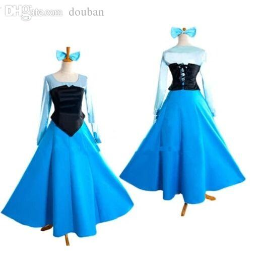 Wholesale-Adult The Little Mermaid Ariel Princess Cosplay Halloween Costume Party Dress
