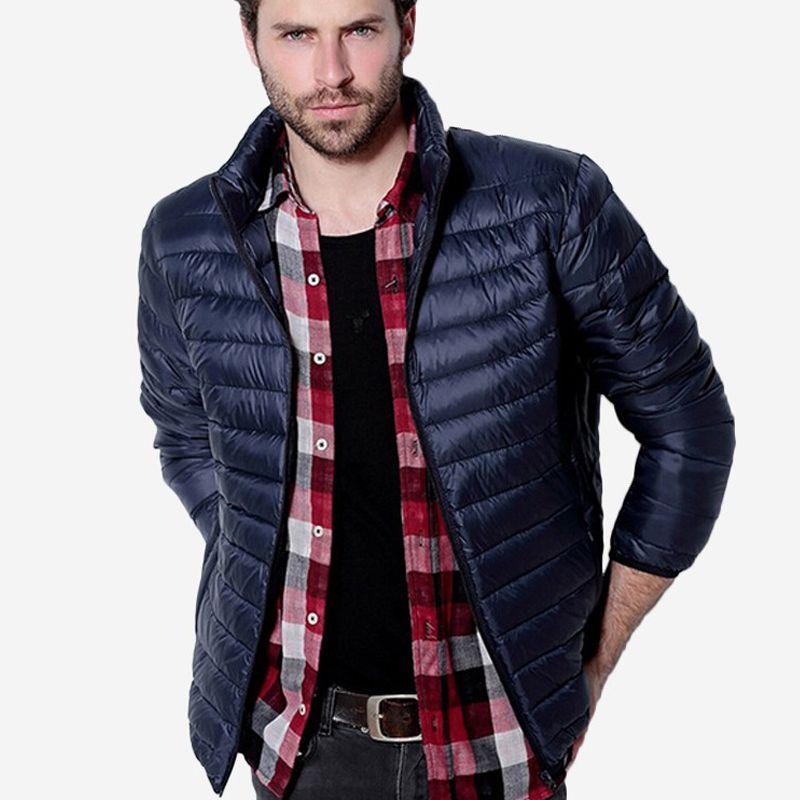 Fall-Winter Jacket Men Light Duck Down Jackets Warm Coats Solid Breathable Jackets Outdoors Parka chaqueta hombre Brand Coat