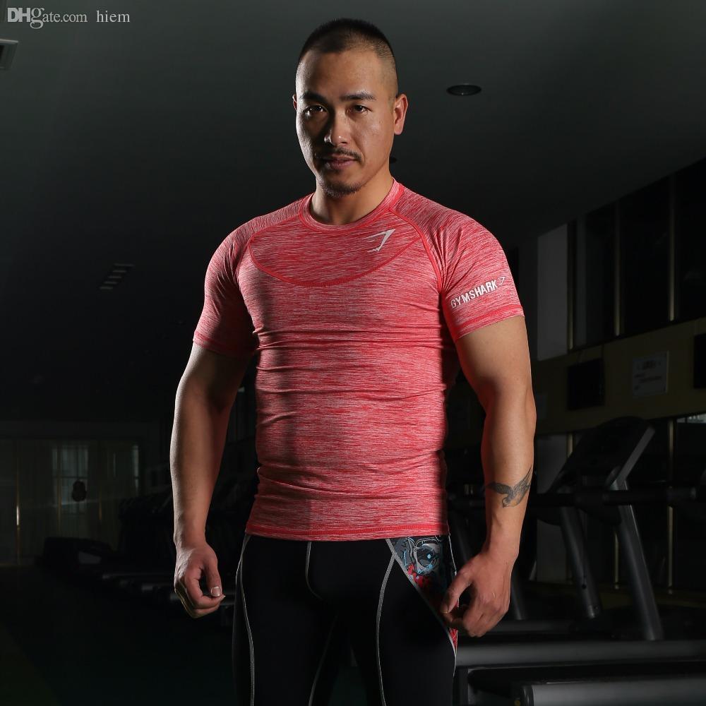 Wholesale-2016 New Arrival Gym Shark Stringer T shirt Men Gymshark Bodybuilding and Fitness Men's Singlets GYM Tank Shirts Sports