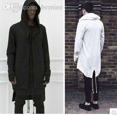 Wholesale-2016 brand-clothing hip hop Hoodies Men Hooded Cloak Plus Long Sport zipper Jacket baggy Streetwear Oversize 2XL