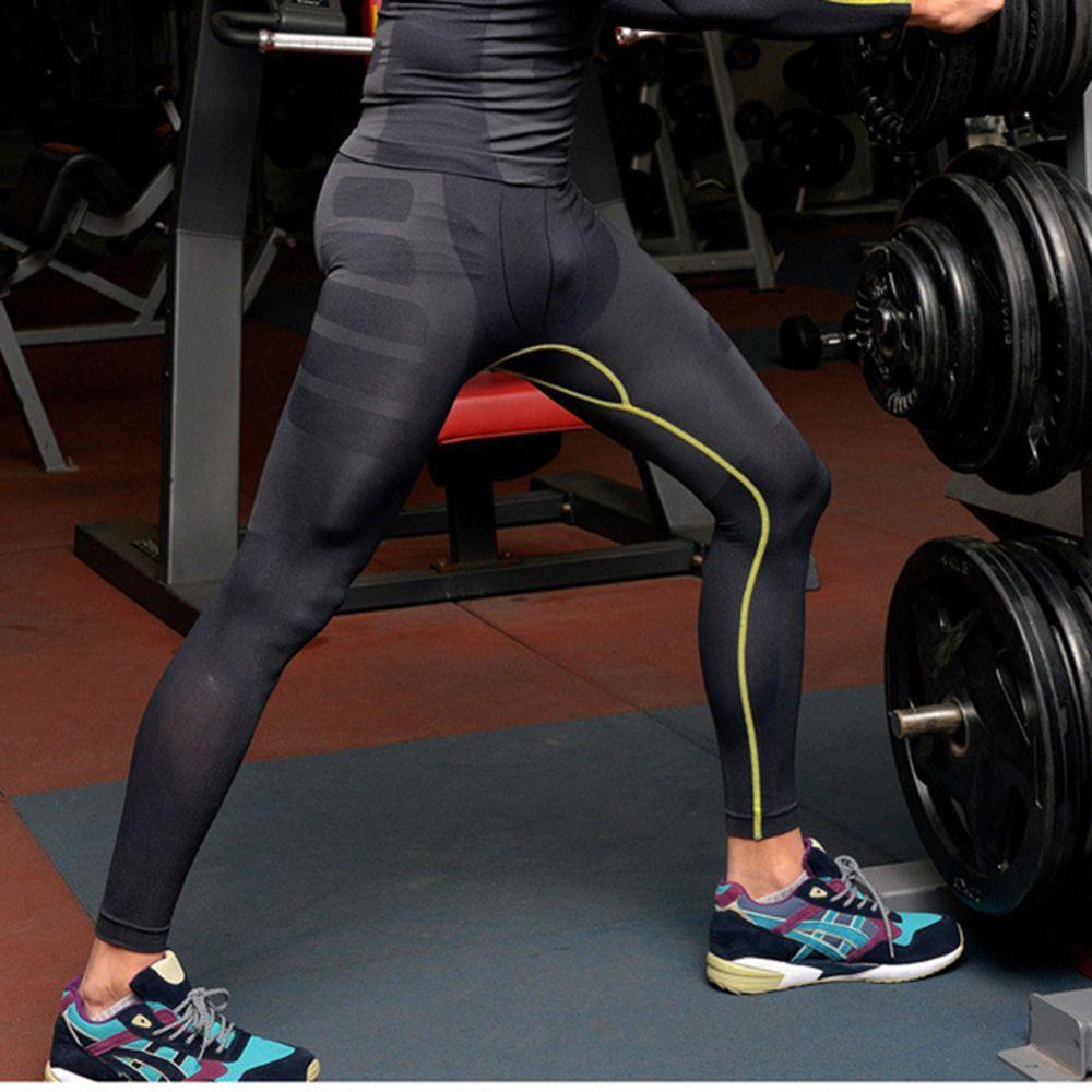 Wholesale-Men COMPRESSION Base Layer Trouser Long Pants Tight Under Skin Sports Bottom