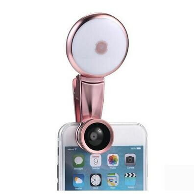 DIGITALFOTO Selfie Smartphone LED Spot Selfie Light Night Darkness Photography Wide Angle Lens Fish Eye Marco Lens