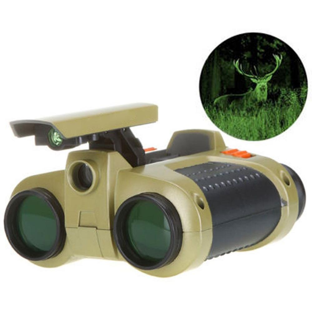 Infrared Night Vision Binoculars 4x30 Adjustable Viewer Spy Security Scope High-Definition Green Film Binocular Telescope
