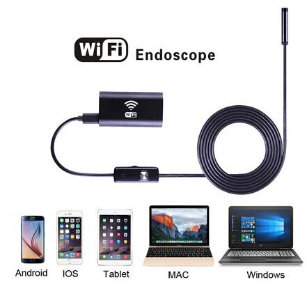 Waterproof WiFI Borescope Inspection Endoscope Snake Tube Camera With 2m/5m/7m/10m Cable
