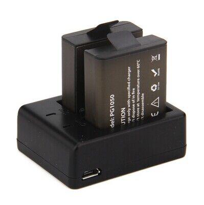 2Pcs Original EKEN Battery Charger + Dual Charger For EKEN H9 H9R H3 H3R H8PRO H8R H8 pro SJCAM SJ4000 SJ5000